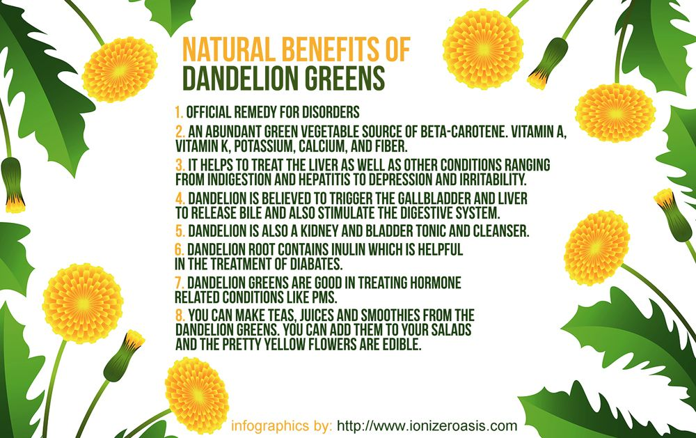 Health Benefits Of Dandelion Greens Http Www Ionizeroasis Com Dandelion Greens Dandelion Benefits Dandelion Tea Benefit