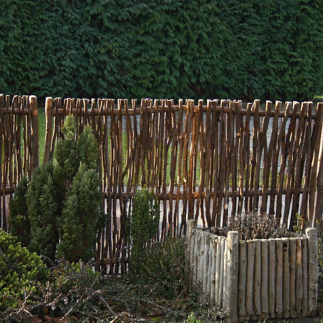 Sichtschutz Haselnußholz Naturzaun, Sichtschutz und