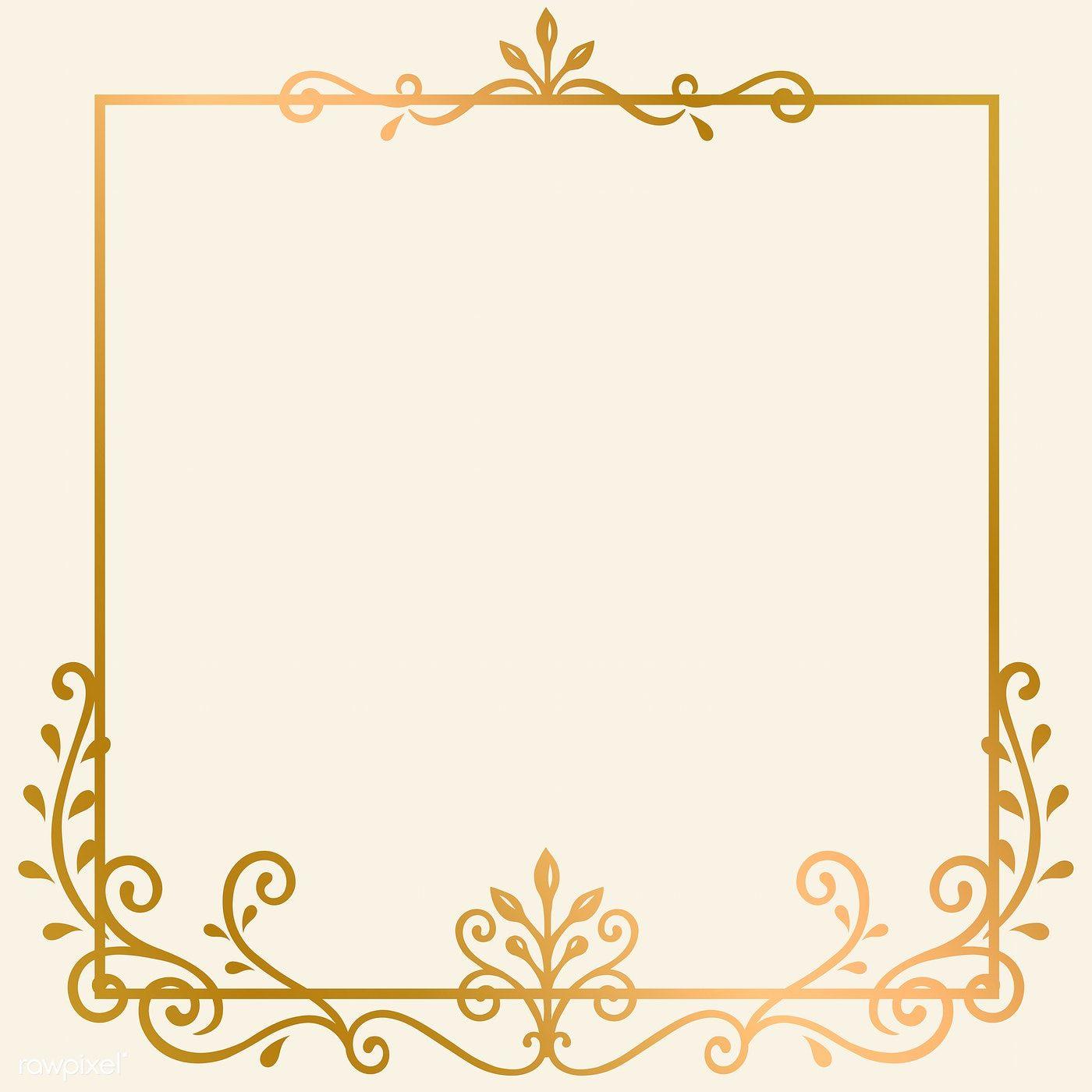 Golden Vintage Ornament Frame Vector Free Image By Rawpixel Com Filmful Ornament Frame Custom Wedding Monogram Vector Free