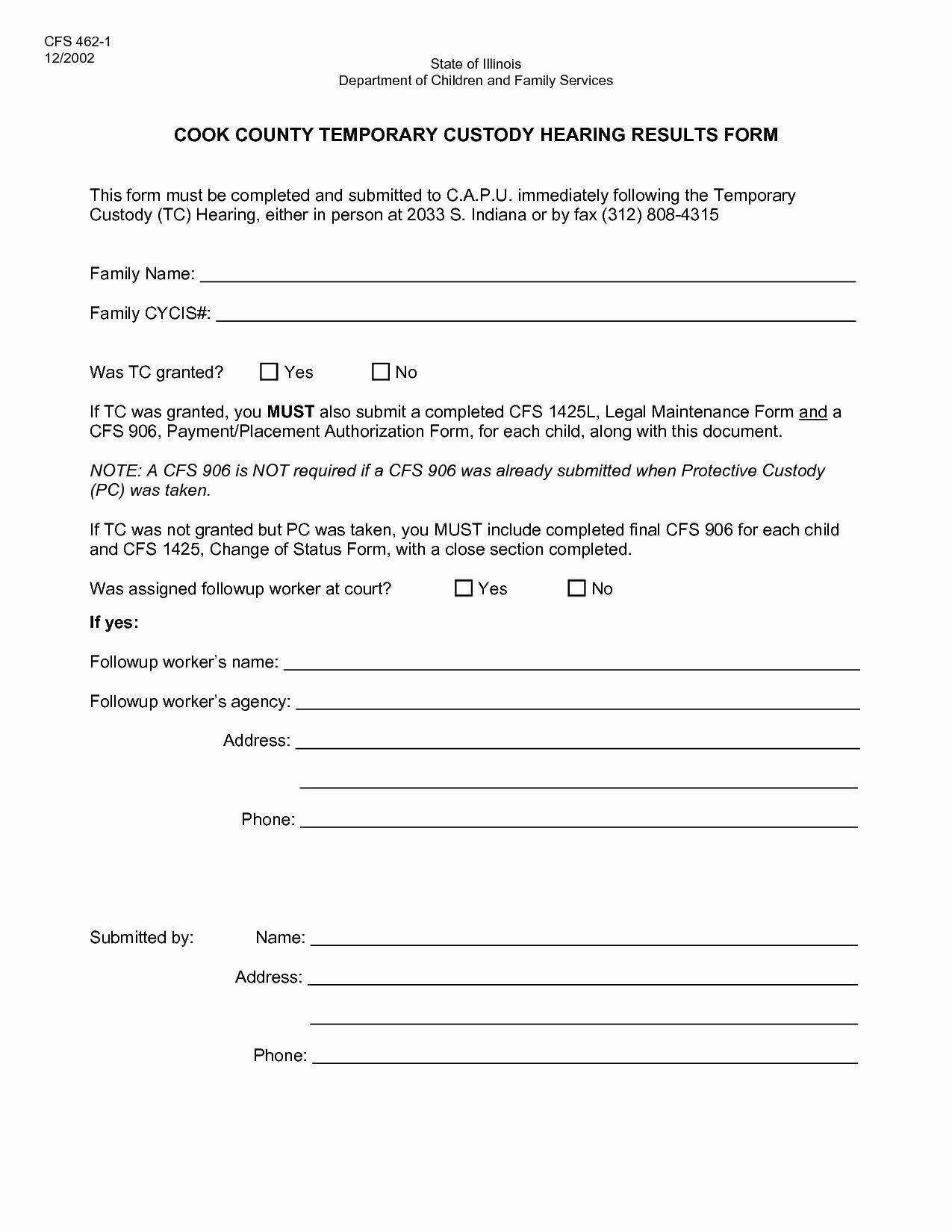 40 Free Temporary Guardianship Form