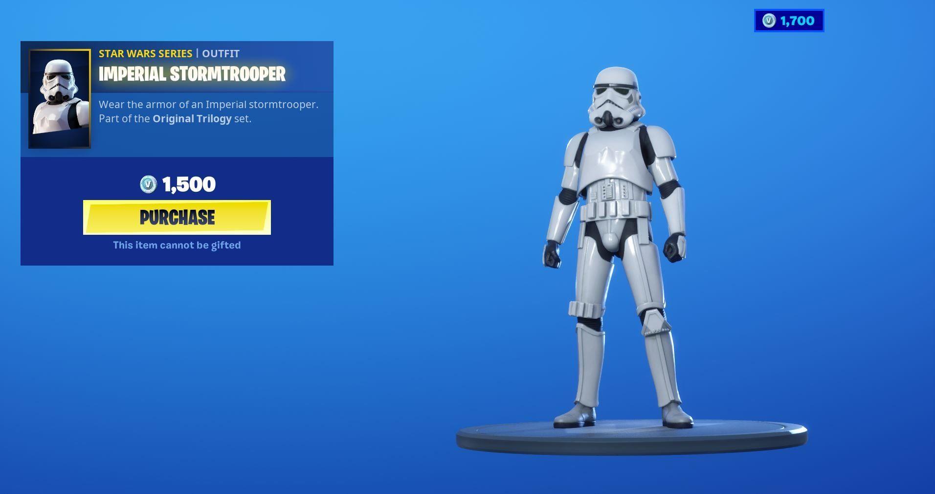Fortnite X Star Wars Collaboration Imperial Stormtrooper Item Shop Skin And Star Destroyer Approaching Epic Game Imperial Stormtrooper Stormtrooper Star Wars