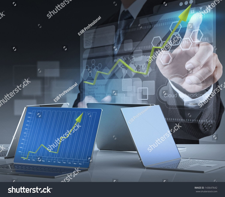 businessman hand working on modern technology Ad , AD,