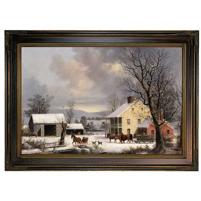 Historic Art Gallery 'Winter in the Country 1857' by George Henry Durrie Framed Painting Print