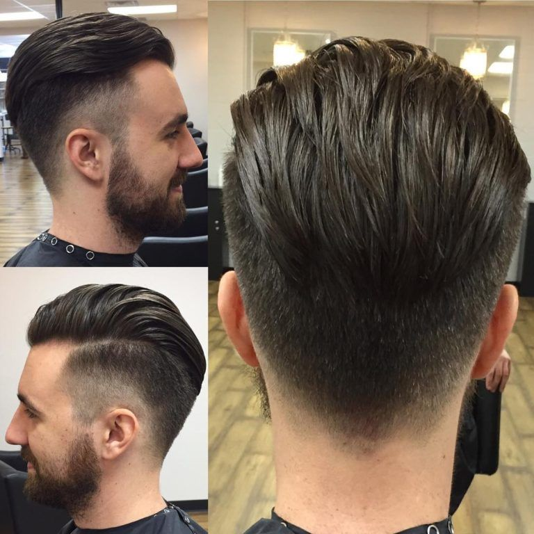 Disconnected Undercut With Taper Fade And Backcombed Medium Top