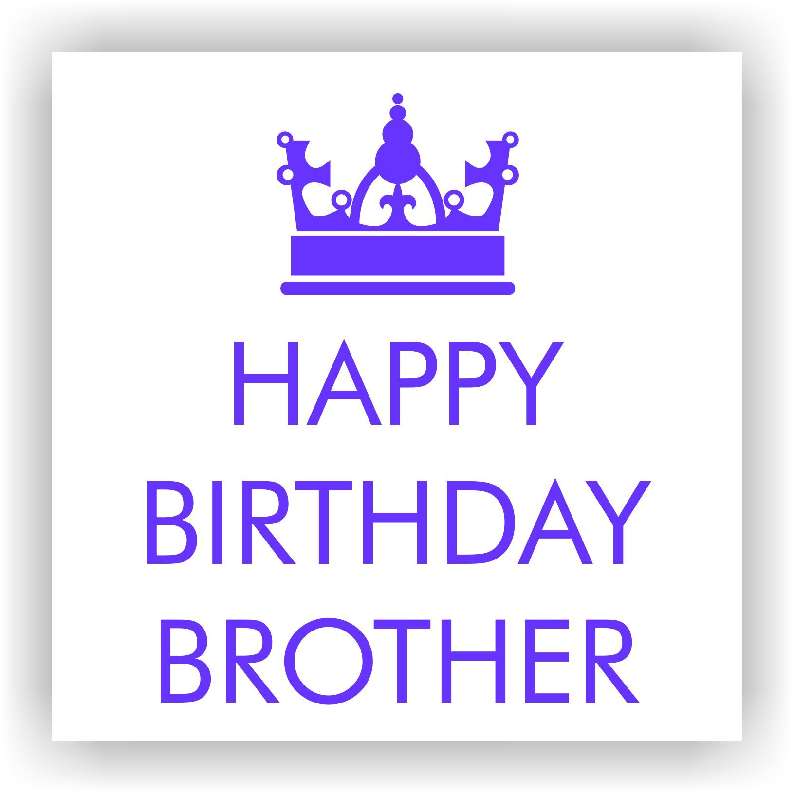 infoqueenbae Happy Birthday Brother charity greeting card Just – Charity Birthday Cards