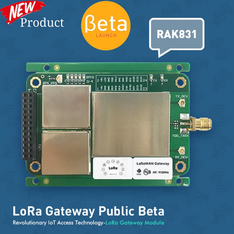 RAK Wireless launched new product LoRaWan Gateway Module