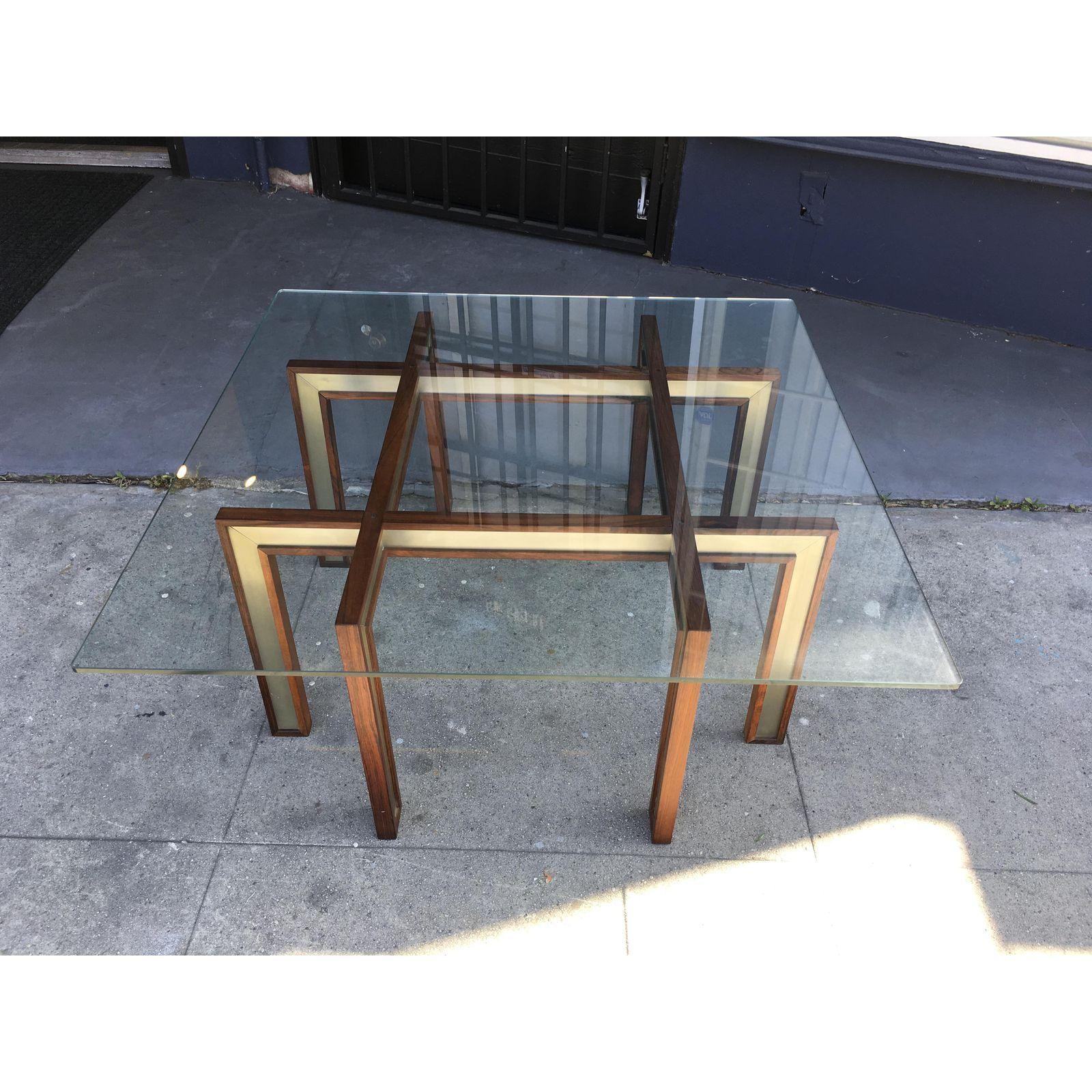 Henning Korch Rosewood Aluminum Glass Top Coffee Table Image 3 Of 9 Coffee Table Coffee Table Images Glass Top Coffee Table [ 1600 x 1600 Pixel ]