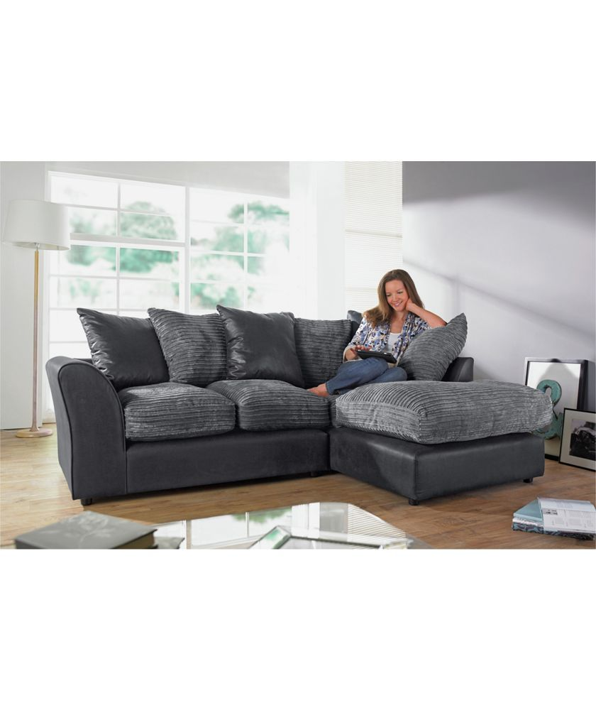 Buy New Bailey Jumbo Cord Left Hand Corner Sofa Group Charcoal At Argos Co Uk Your Online Shop For Sofas Sofa Corner Sofa Charcoal Sofa