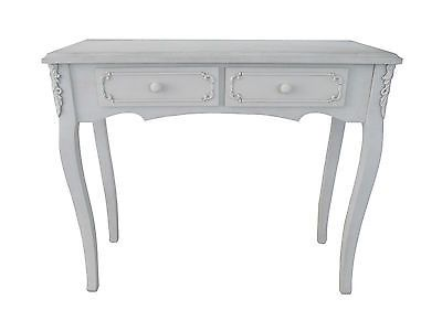 Cream Hall Table shabby chic white, cream or white wash dressing hall table vintage