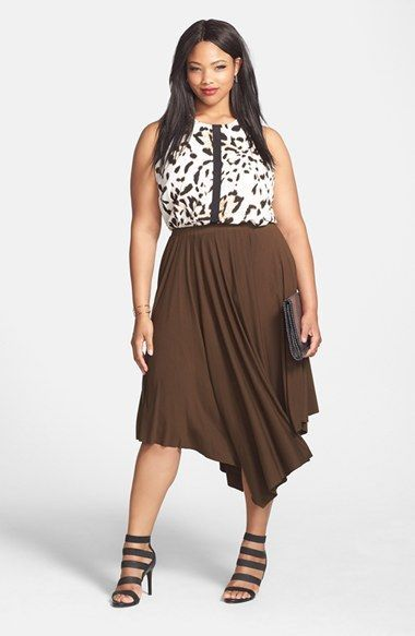 Plus Size 'Spotted Lynx' Sleeveless Blouse