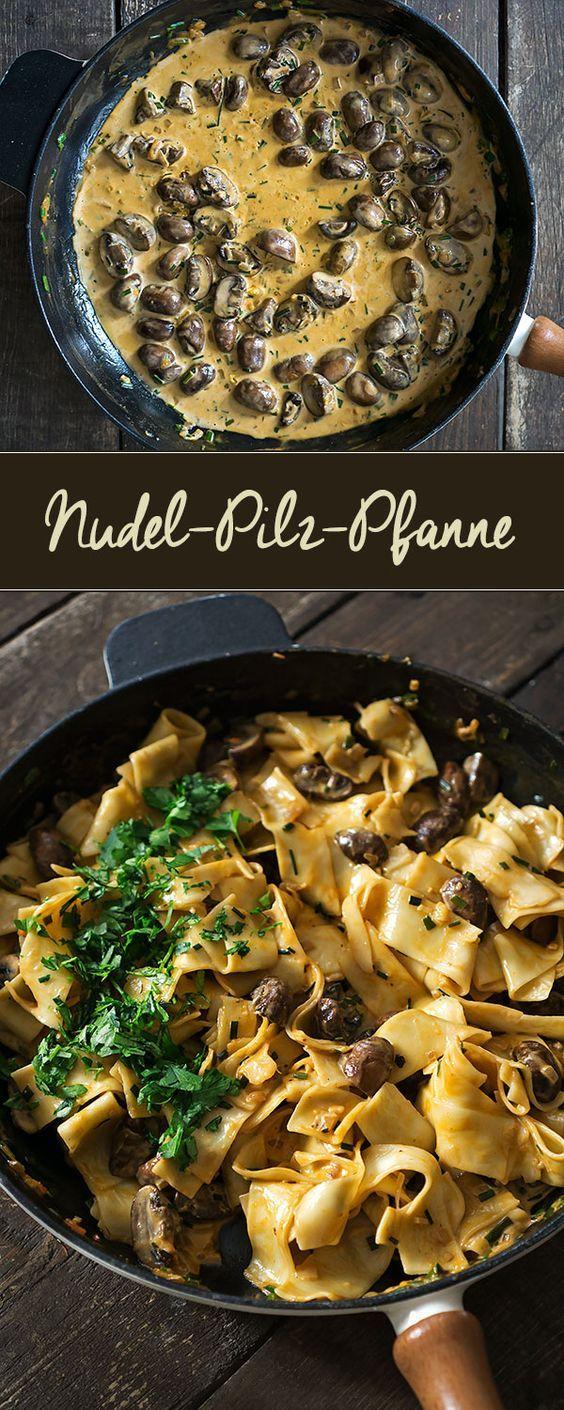 Nudel-Pilz-Pfanne