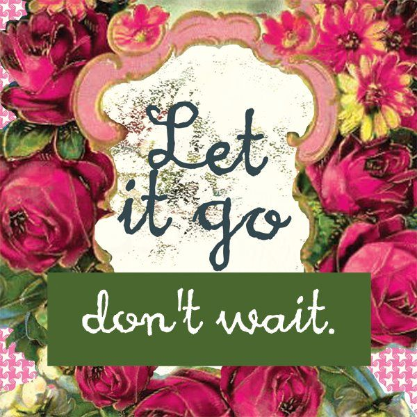Time to let go of anything that is weighing you down, beautiful soul!!! You'll fly better without all of that stuff!