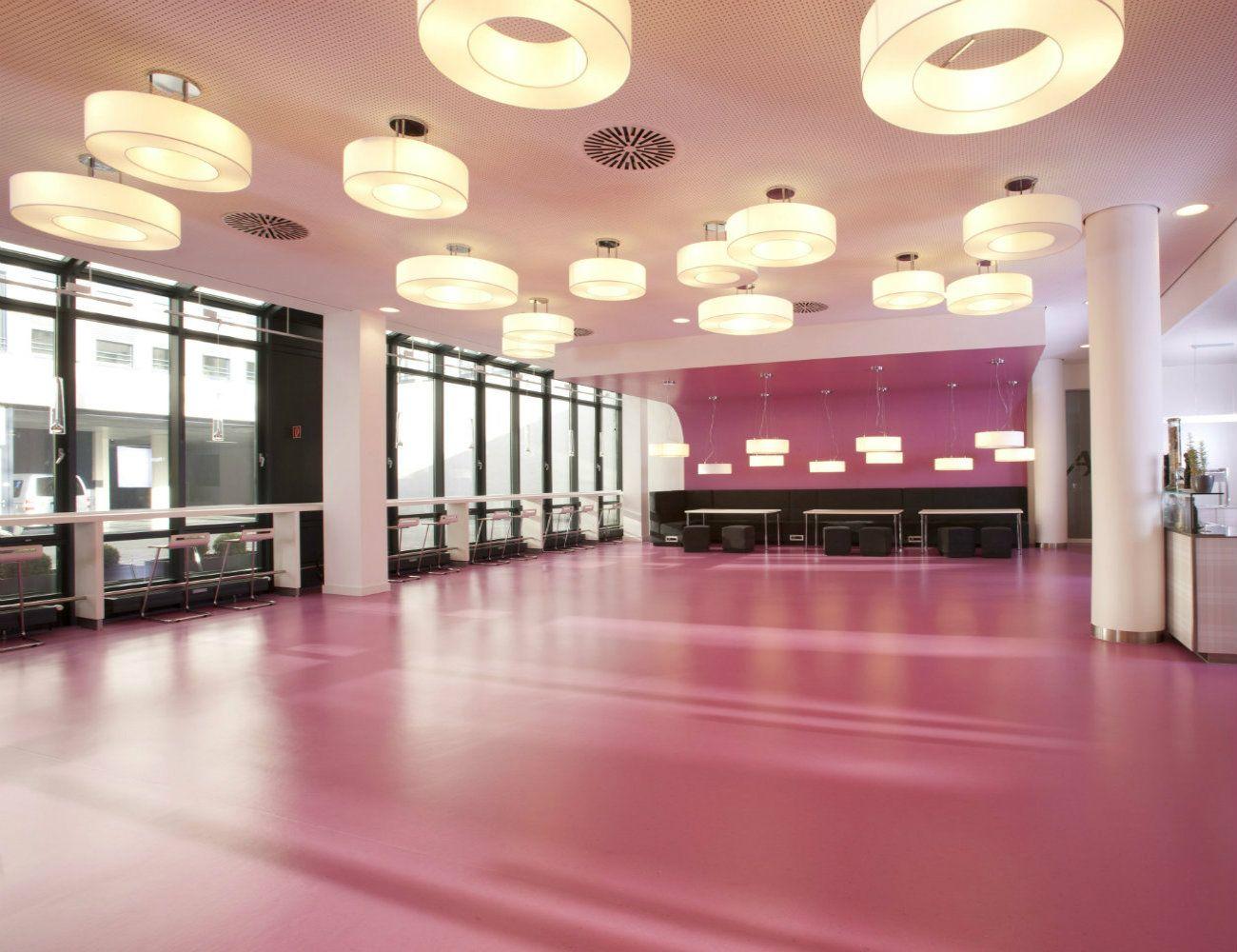 dlw flooring references dlw linoleum in munich staff restaurant - Linoleum Restaurant Interior