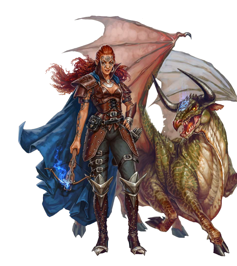Female Human Summoner - Pathfinder PFRPG DND D&D d20 fantasy