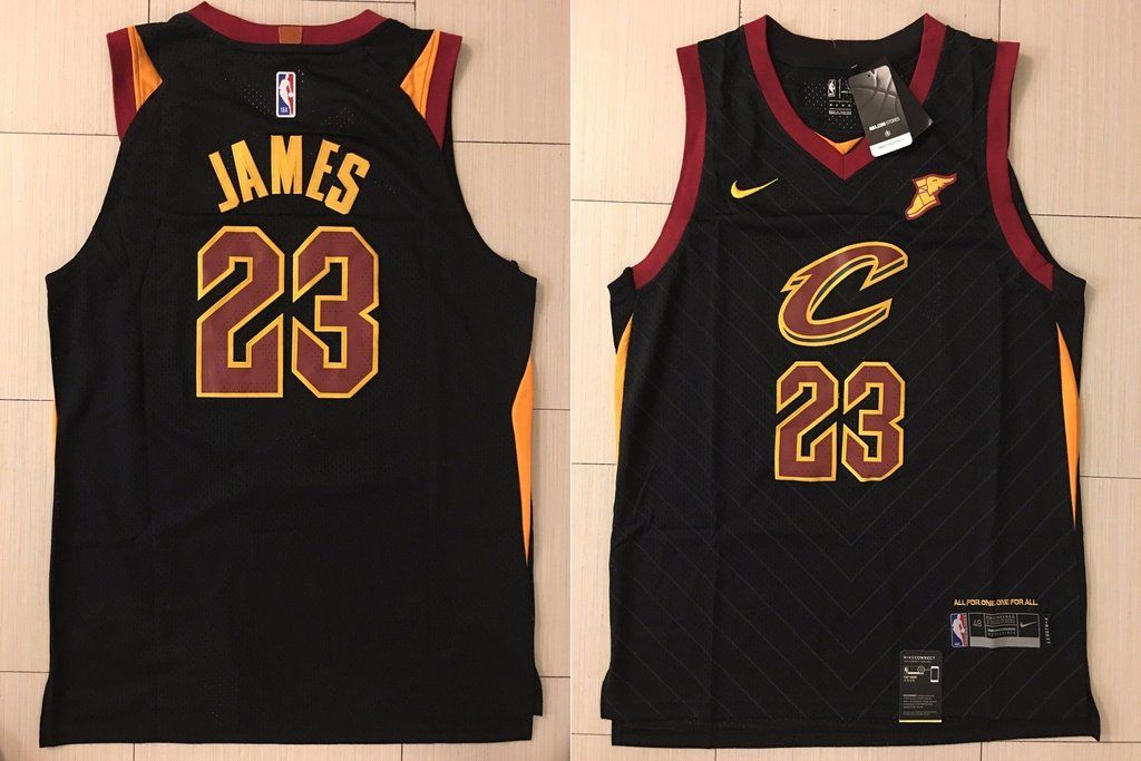 new style 164ad 40164 lebron james black jersey cavs