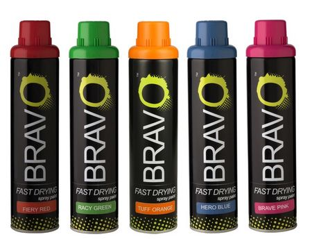From the Rust-Oleum stable comes Bravo spray paint