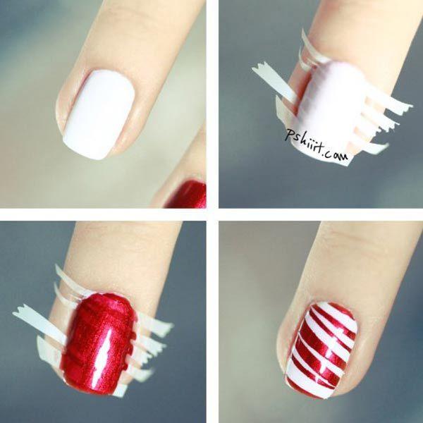 Diseños para uñas paso a paso | Diseños para uñas, Rayas y Esmalte