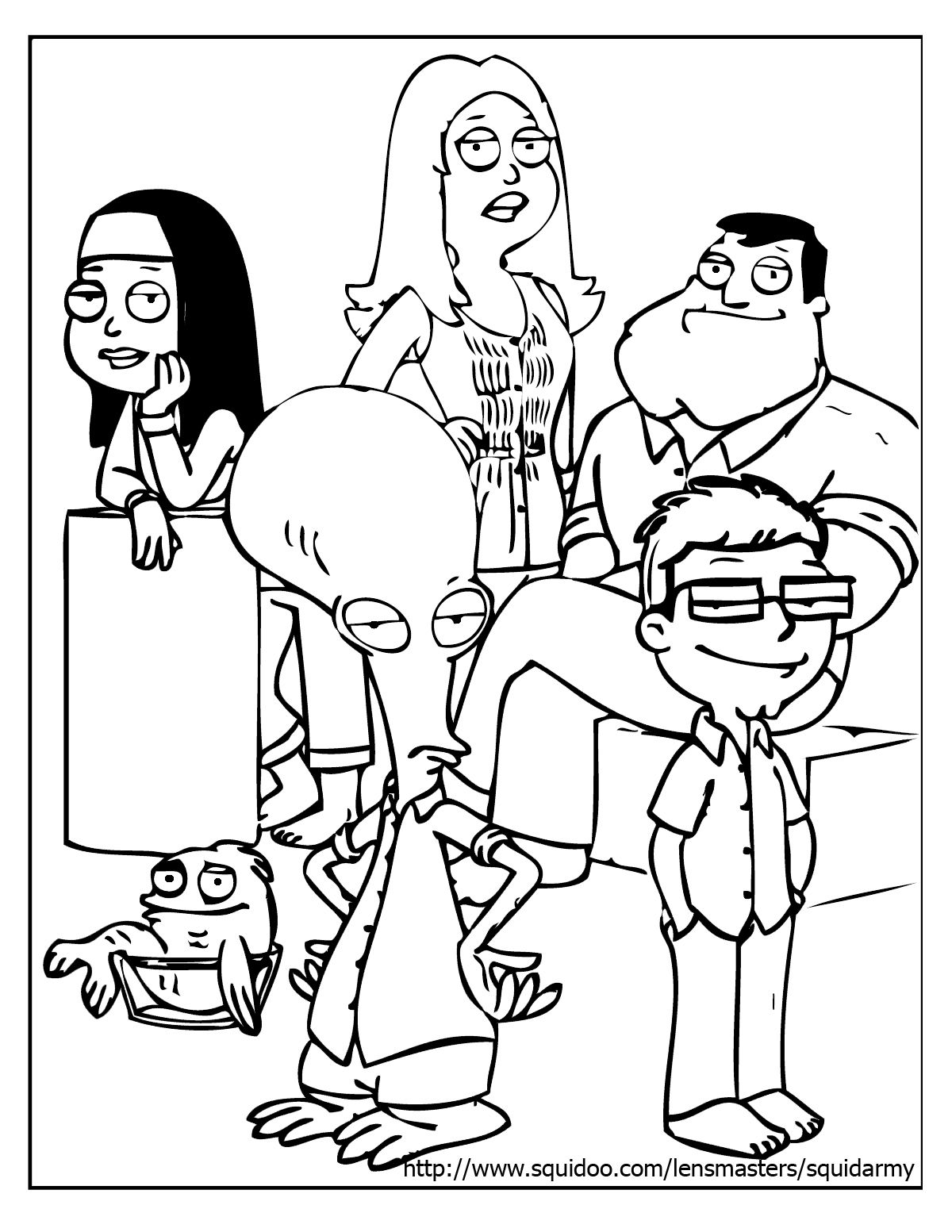 African American Family Coloring Pages Collection Family Coloring Pages Cartoon Coloring Pages American Dad
