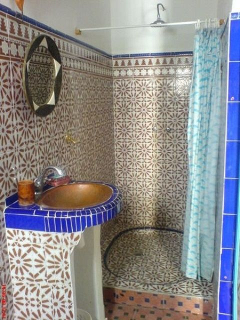 Eastern Luxury: 48 Inspiring Moroccan Bathroom Design Ideas | DigsDigs.  Just A Touch Of