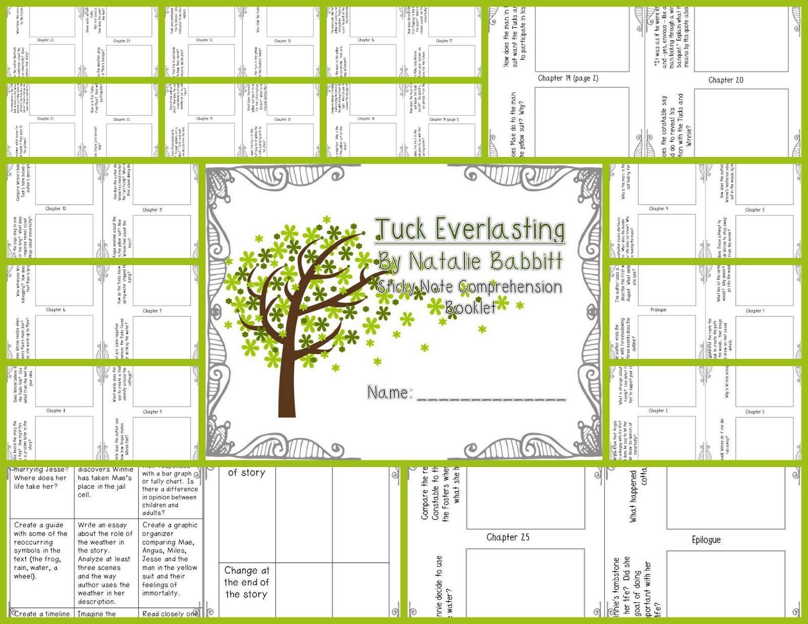 Worksheets Tuck Everlasting Worksheets tuck everlasting worksheets bing images school pinterest images