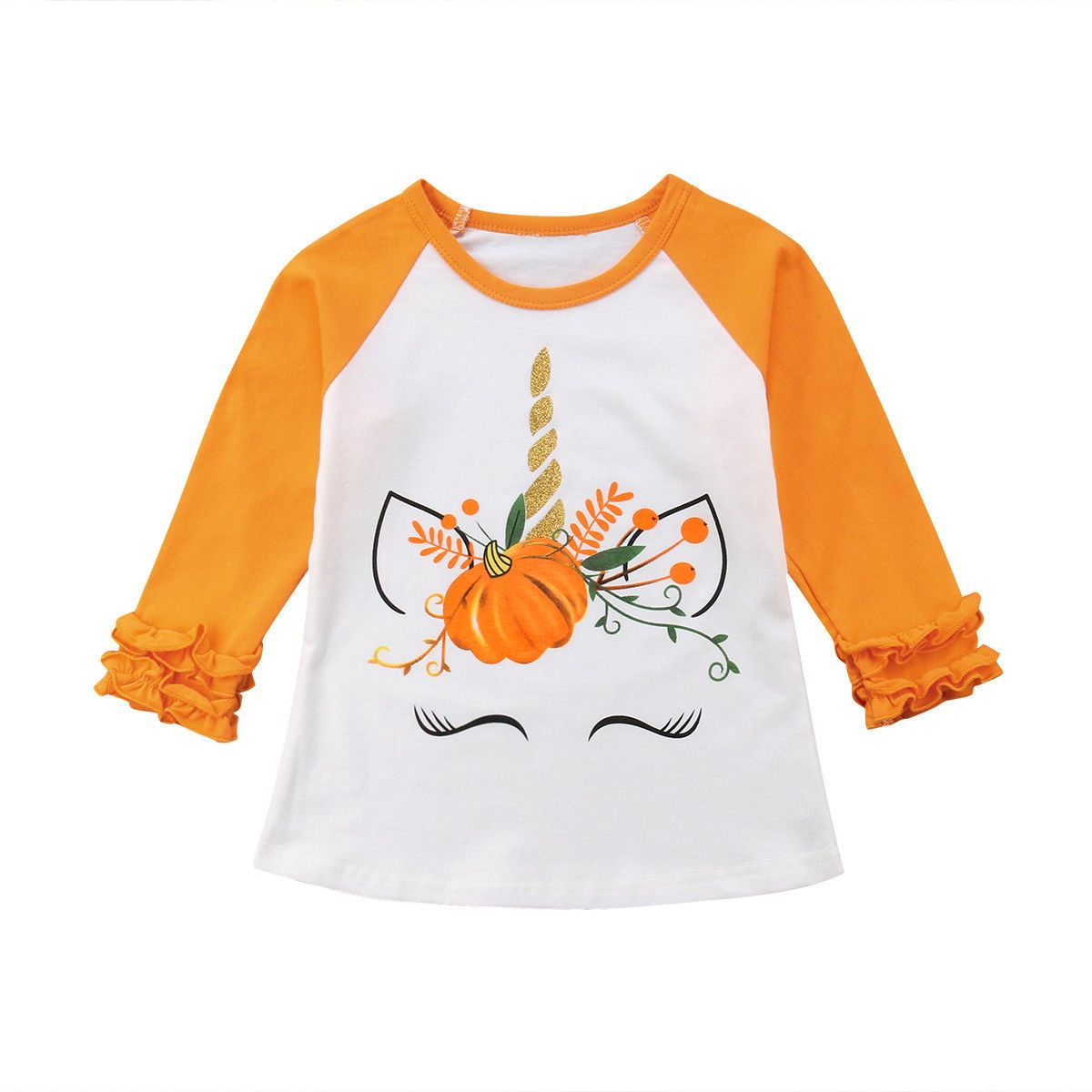 dabb5dffd13 Buy Newborn Baby Girls Halloween Unicorn Shirt at familypops.com! Free  shipping to 185 countries. 45 days money back guarantee.