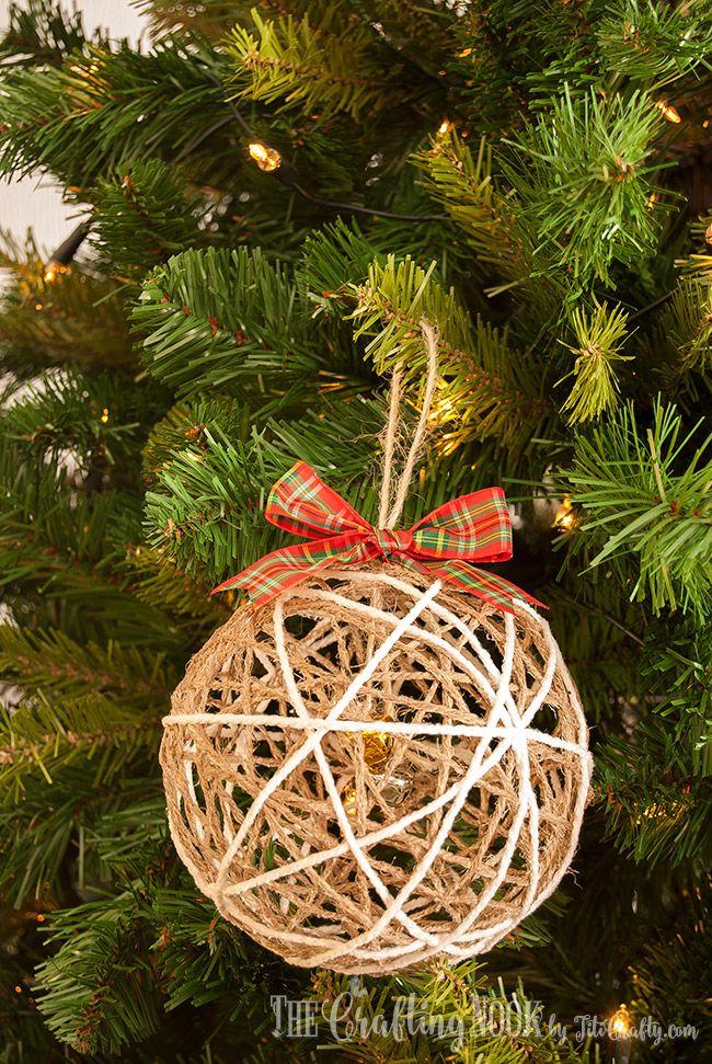 Twine Ball Christmas Ornament Tutorial | Christmas | Pinterest ...