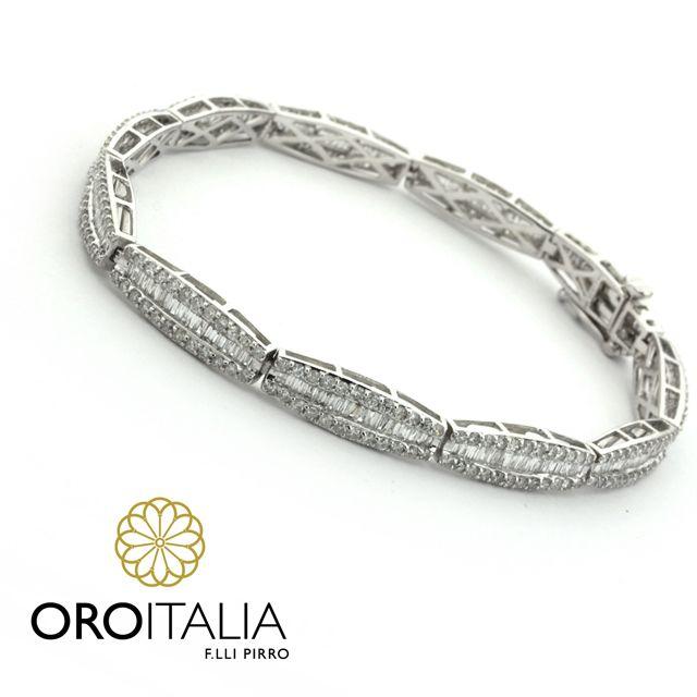 5577425081df Pulsera de diamantes en oro blanco. Para precios llámanos al 302-0269  (Costa del Este) ref. 211586  oroitalia  joyería  oro  gold  joyeríaspanamá   jewelry ...