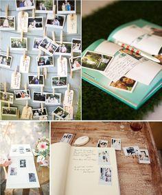 Un livre d'or original : l'option polaroid . Blog mariage ...