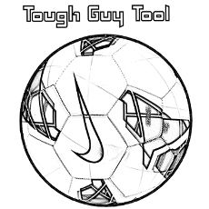 Charming Coloring Pages Of Brand Nike Soccer Ball