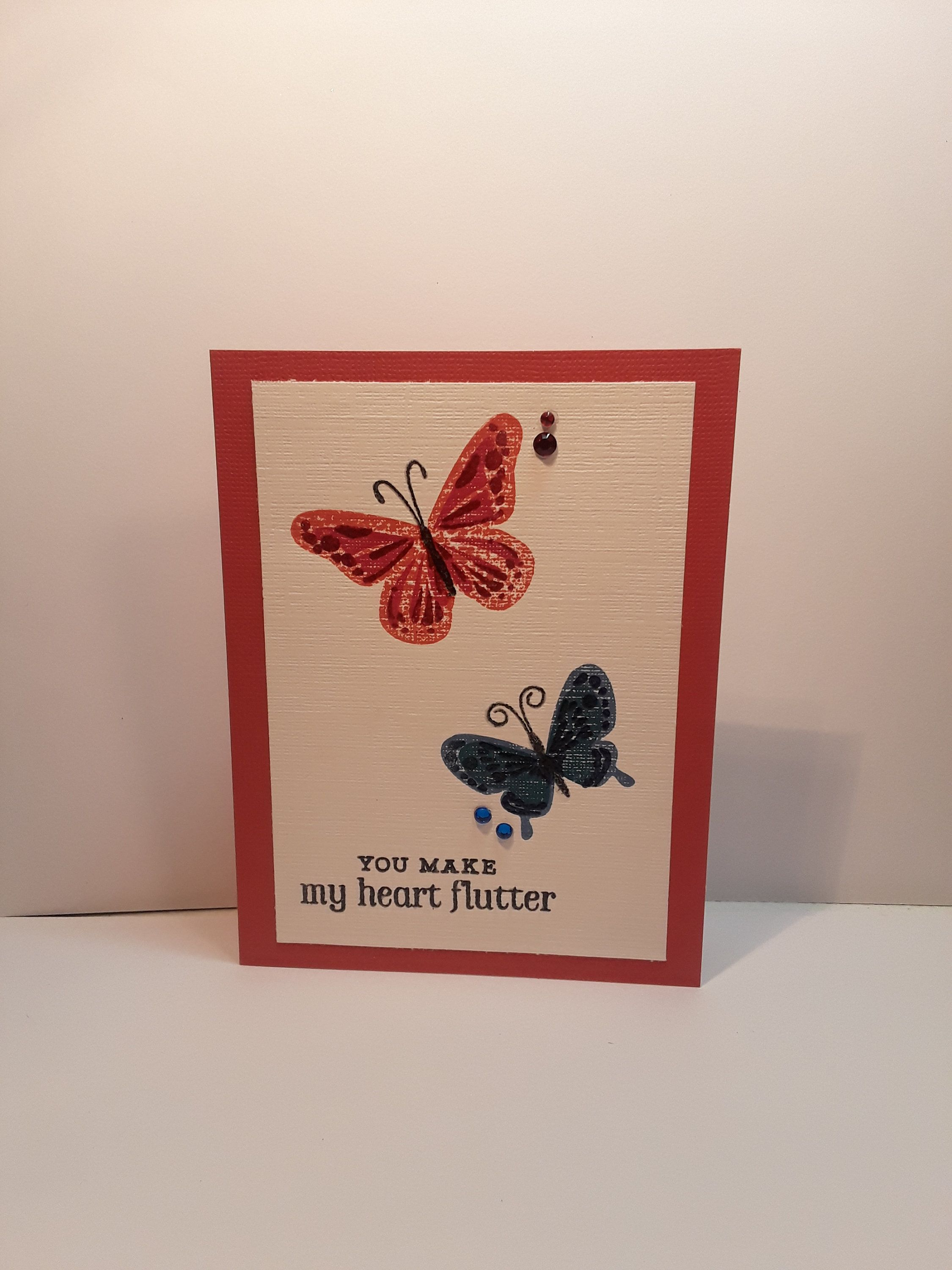 Handmade Greeting Card Inspirational Card Live Love Butterfly