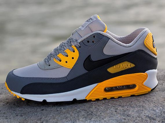 separation shoes bf0f4 6ae1f Nike Air Max 90 Essential- Pale Grey, Black, Anthracite, and Orange