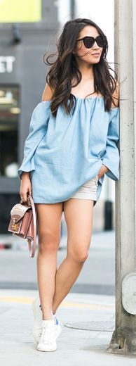 Comfy Off Shoulder Top Outfit Idea by Wendy's Lookbook