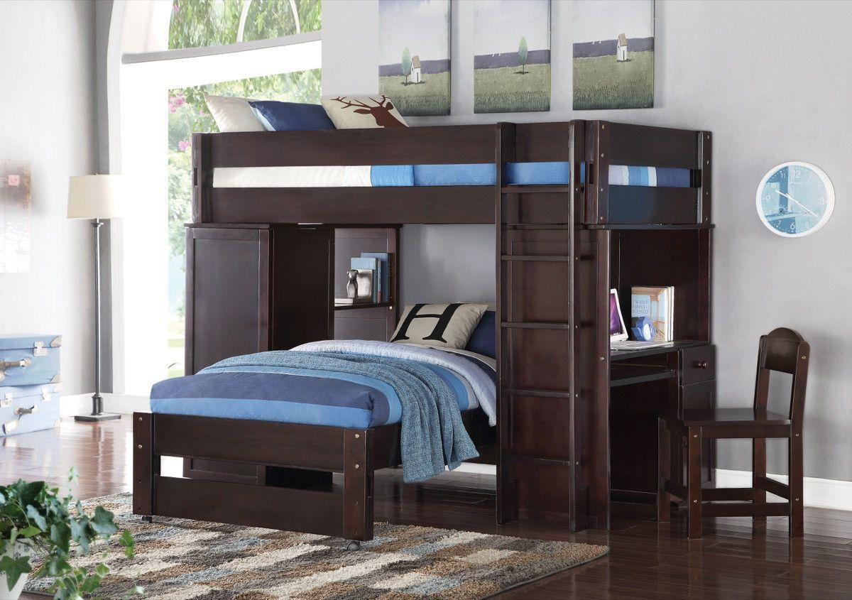 ACME Lars Loft Bed & Twin Bed Wenge - 37495