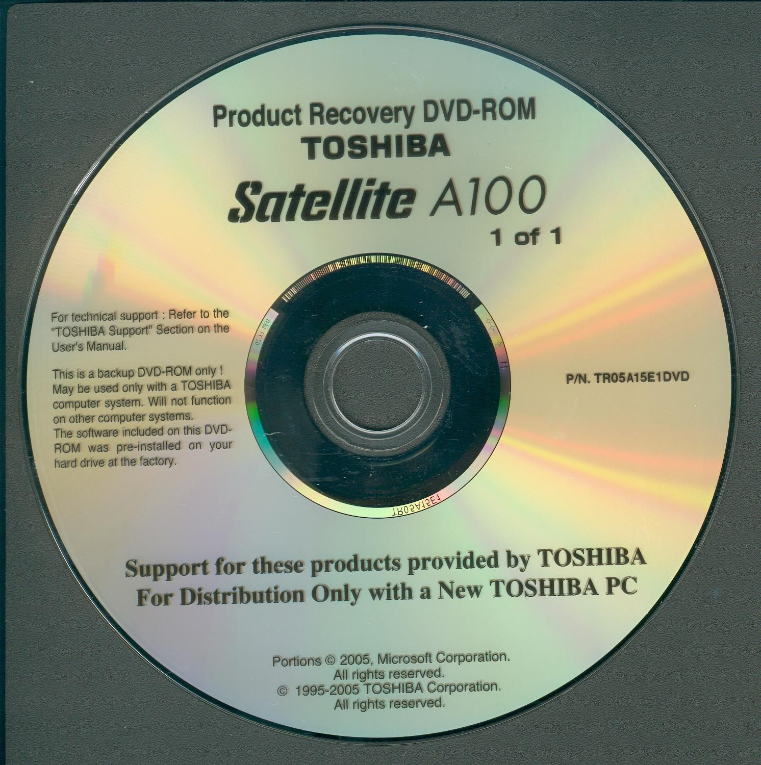 Toshiba a100 recovery disk windows | pamillo | Windows xp