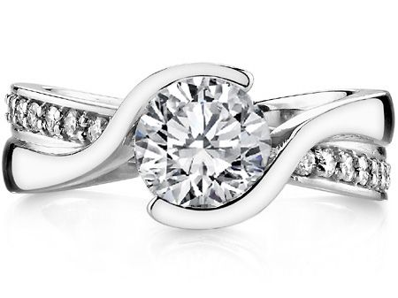 Swirl Engagement Rings From Mdc Diamonds Nyc Swirl Engagement Rings Ladies Diamond Rings Engagement Rings