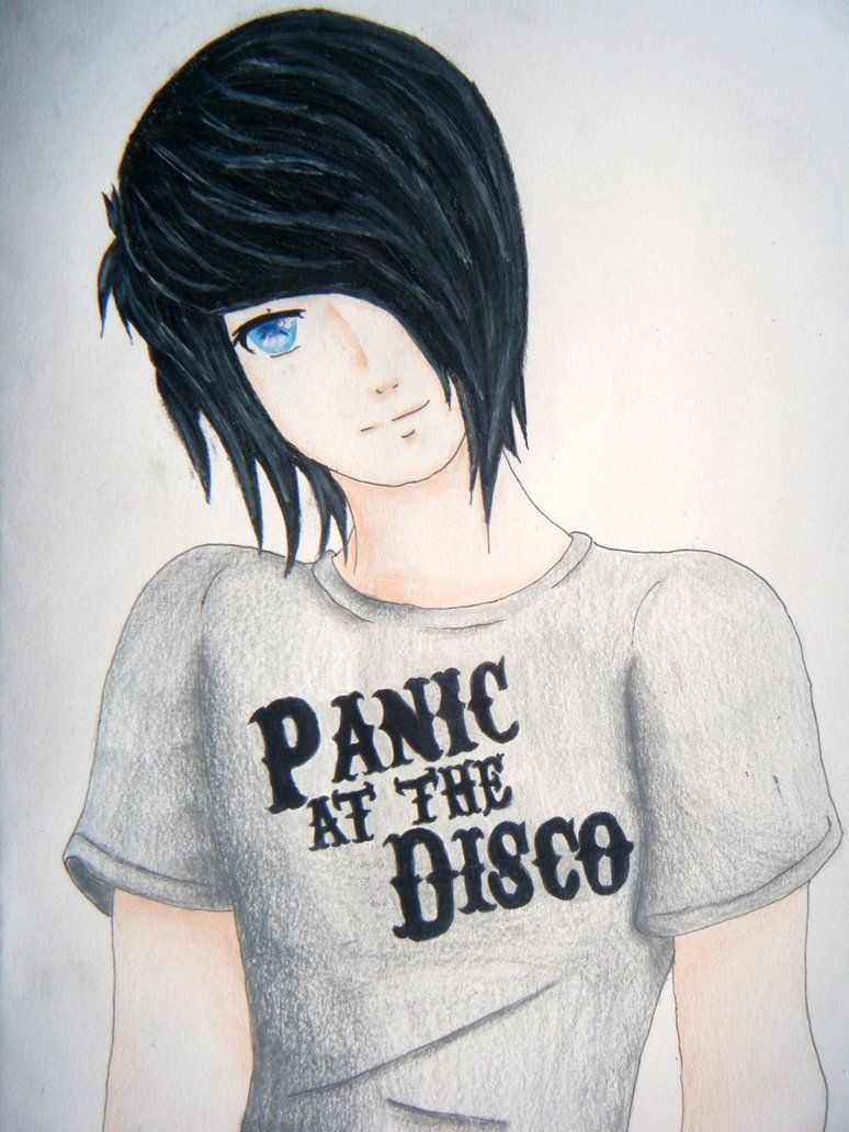 Anime guy emo drawing