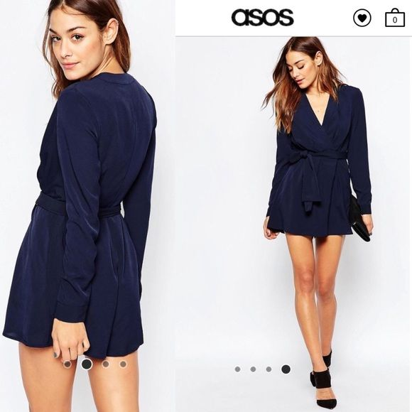 67fa38f3711 The Fifth The High Road Long Sleeve Romper In Navy The Fifth The High Road  Long Sleeve Romper In Navy Fully lined. New without tags ASOS Pants  Jumpsuits   ...