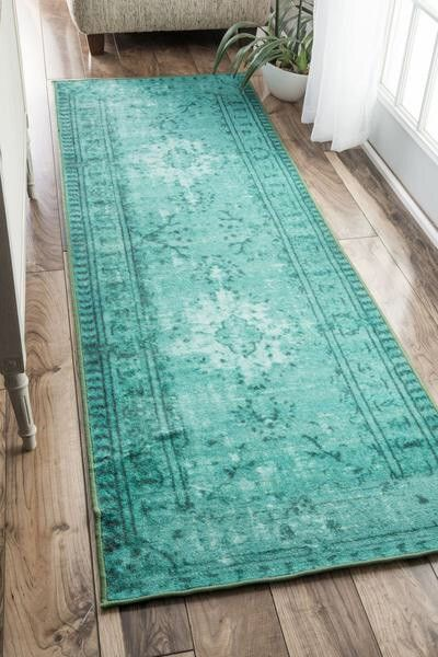 Mermaid Rug Rugs Contemporary Home Decor Turquoise Runner Rug