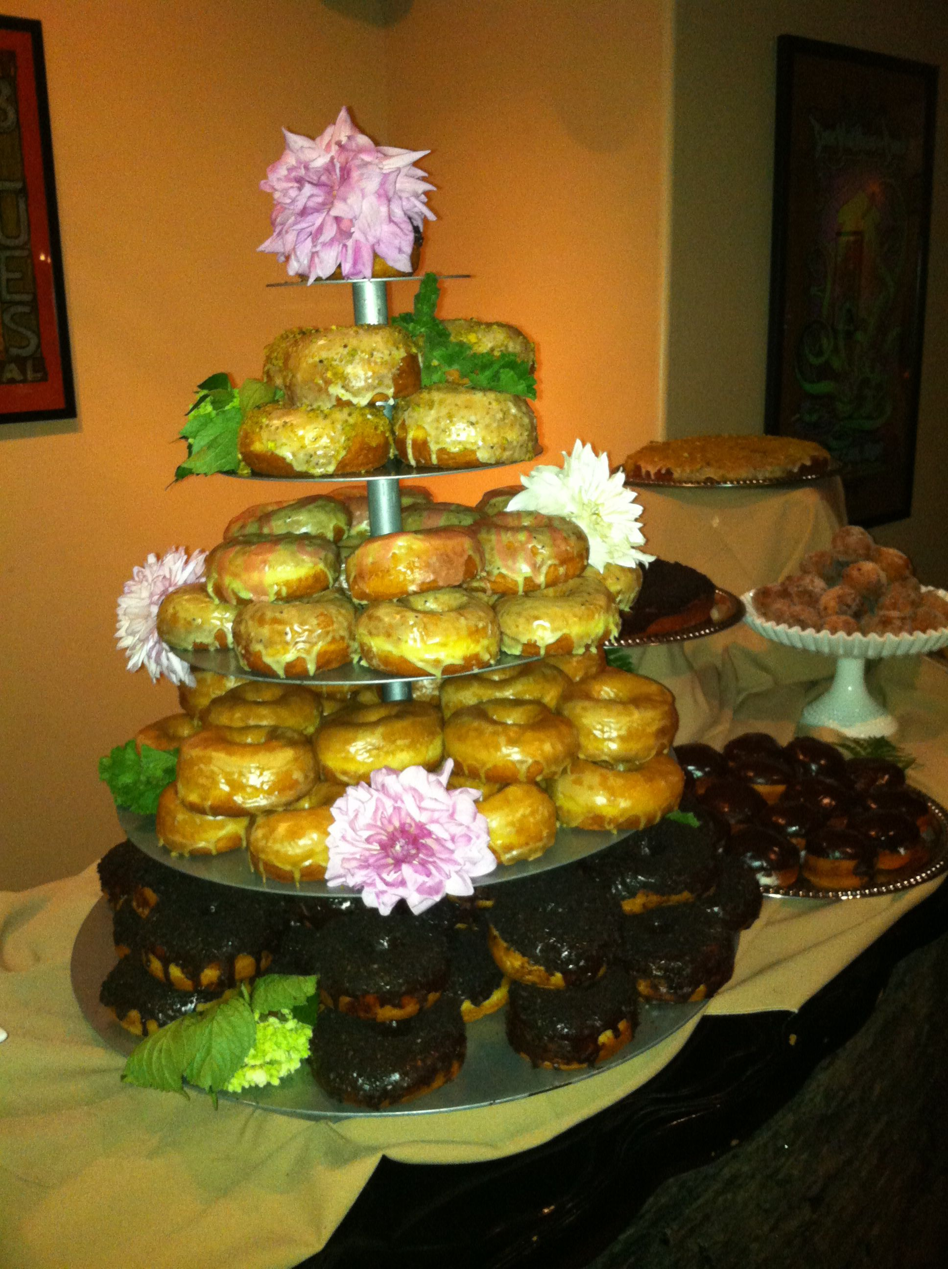 Donut Cake and Display at a Bluestone Wedding Reception. Donuts by ...