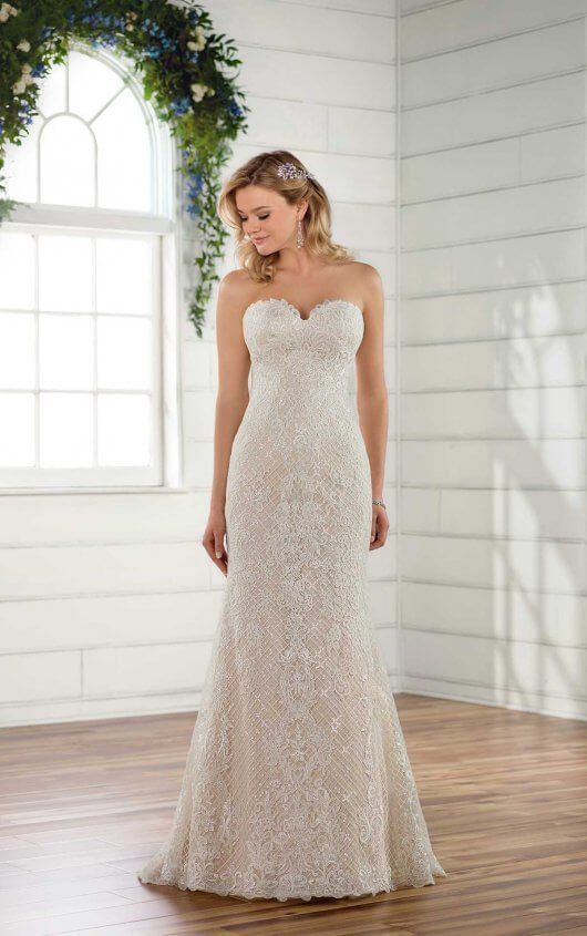 Organic Lace Wedding Dress | Lace wedding dresses, Lace weddings and ...