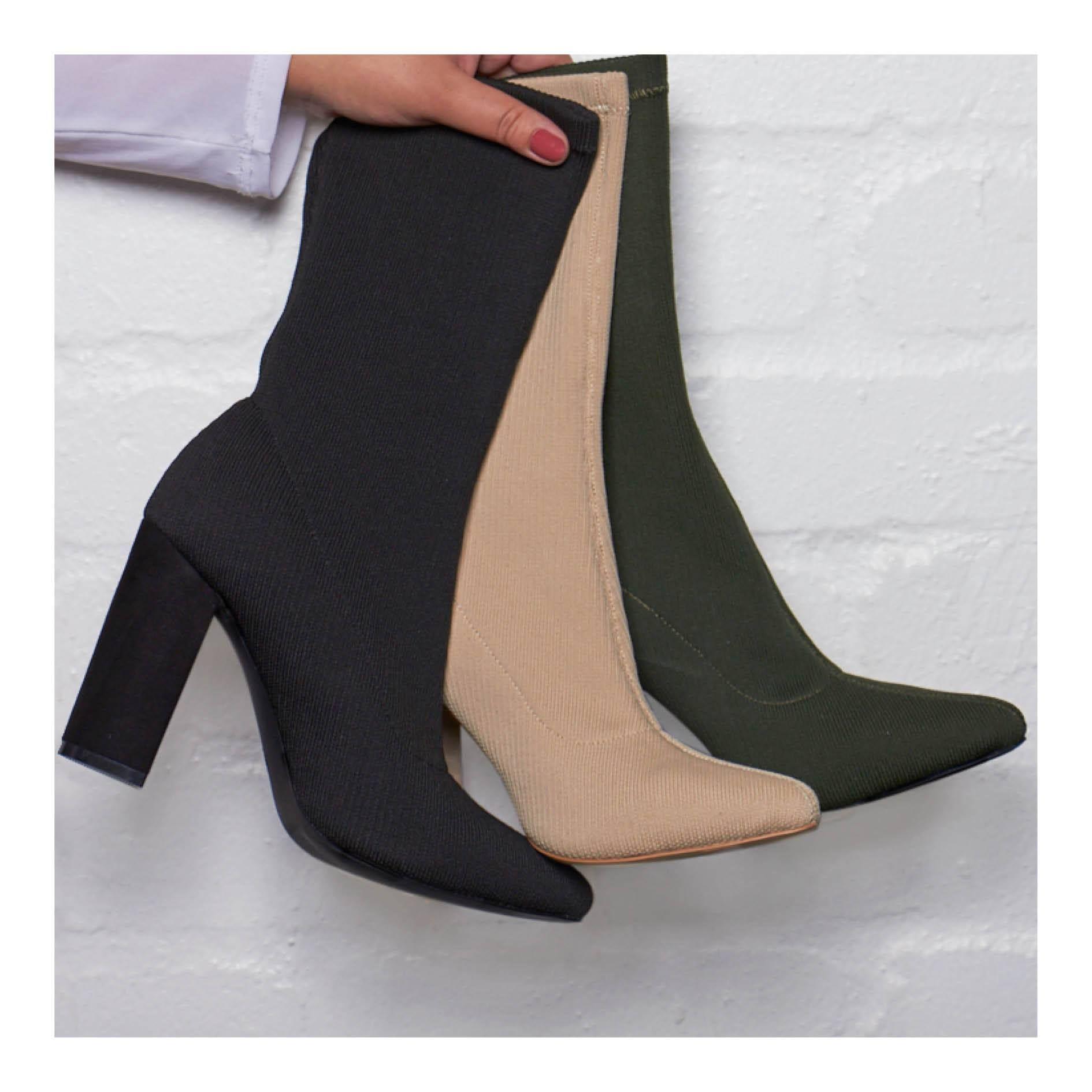 The Fix sock boots - Olive
