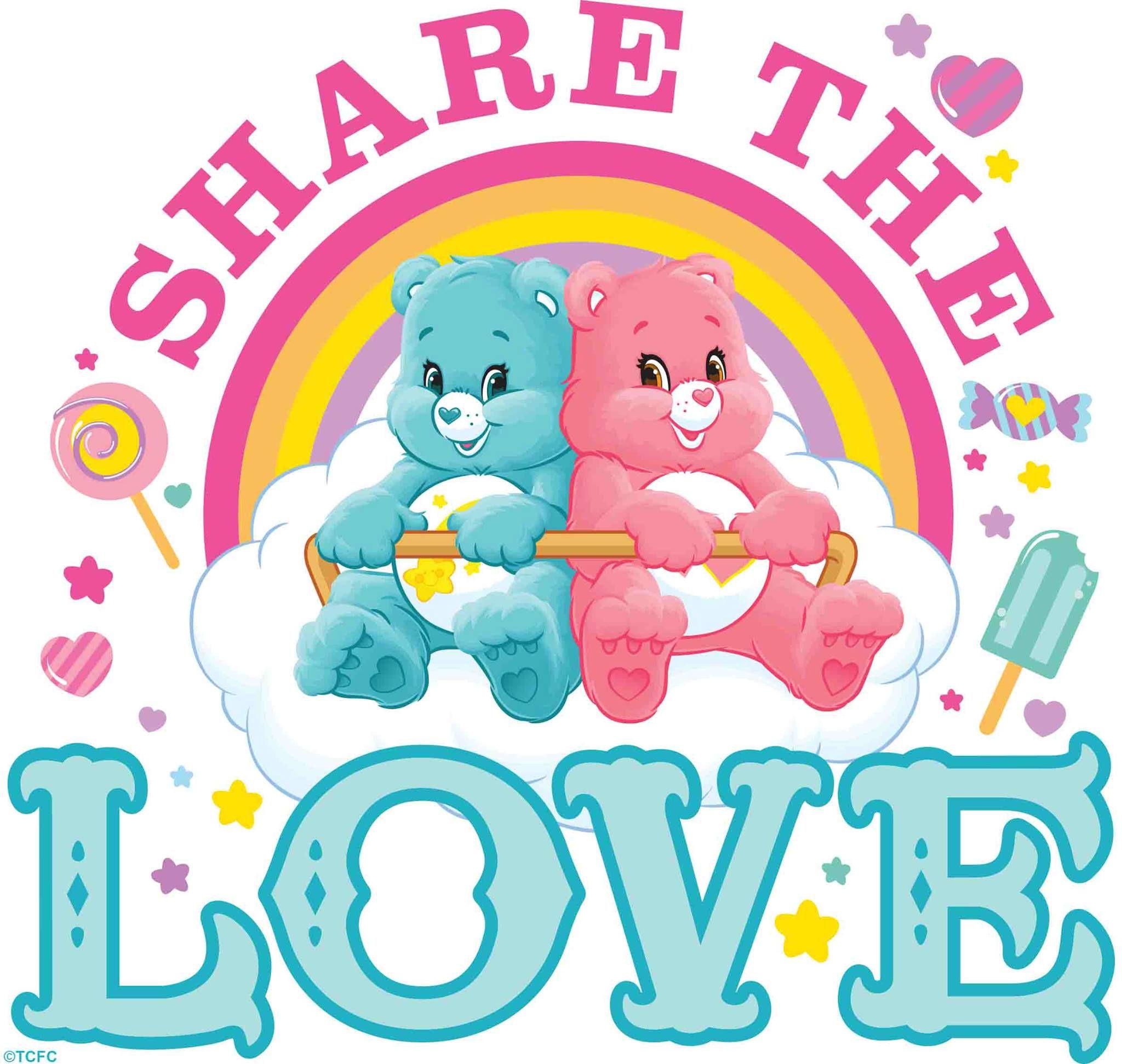 Care bears wish bear and lovealot bear share the love