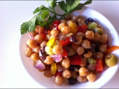 سلطه الحمص How To Make Checkpeas Cooking Salad Recipes Chickpea Salad