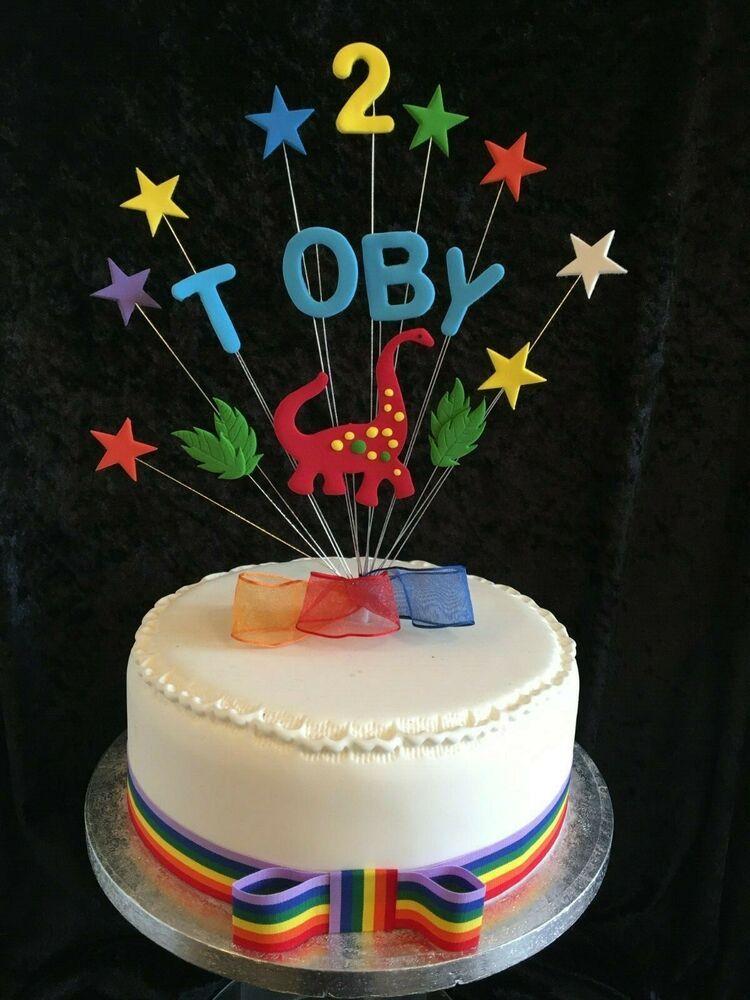 Personalised Dinosaur Birthday Cake Topper 1 Metre Of Cake
