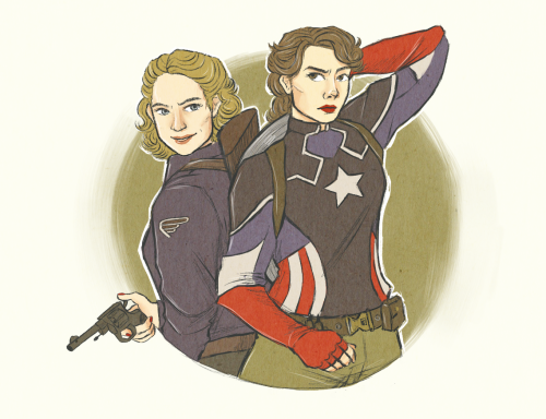 Captain America And Peggy Carter Child