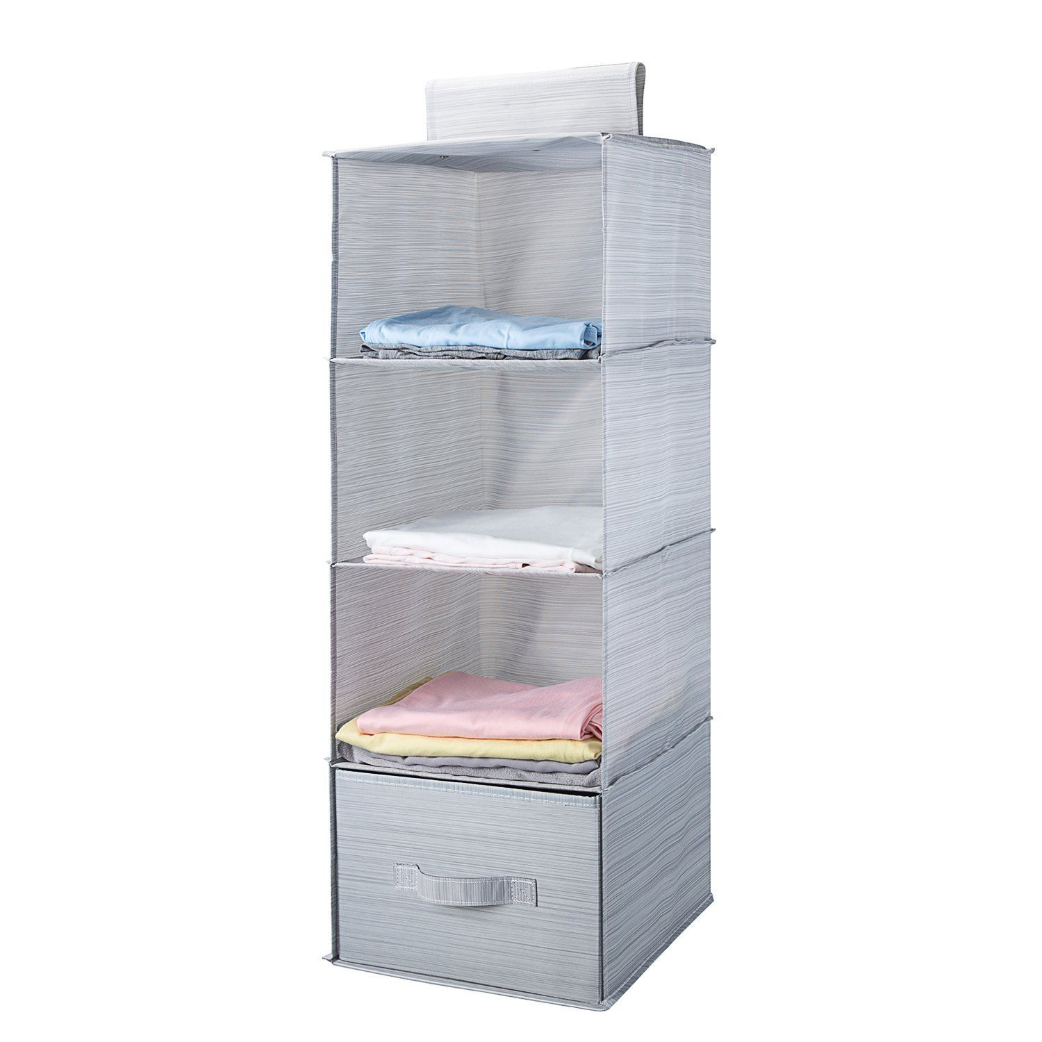 This Collapsible Hanging Closet Organizer System Has Four Easy Access,