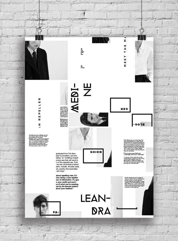 informative poster system by marina zertuche via behance lab