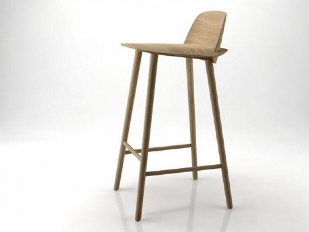 Nerd Barkruk Muuto : Geweldig barkruk muuto type nerd houten kruk gebeitst in