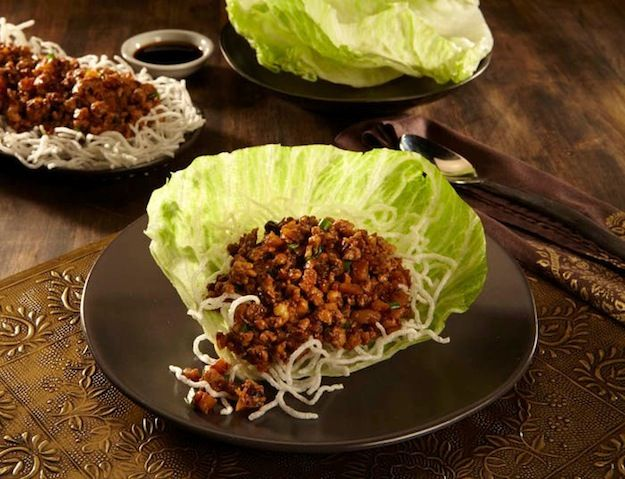 Chang's Chicken Lettuce Wraps  Our signature appetizer. Wok-seared chicken, mushrooms, green onions and water chestnuts served over crispy rice sticks with cool, crisp lettuce cups || Now Available for Delivery in Minneapolis: P.F. Chang's China Bistro