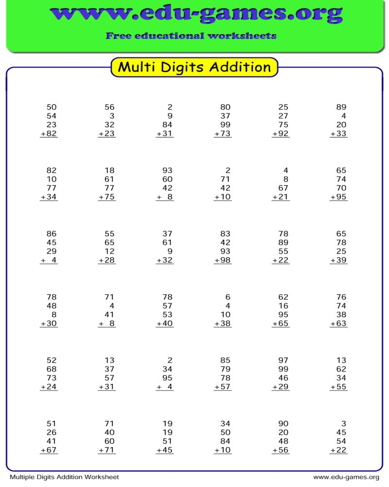 Addition Worksheet Maker in 2020 Addition worksheets